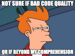 Bad code, how my code...