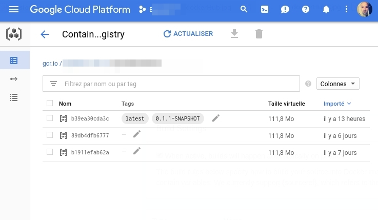 Google Cloud Container Registry