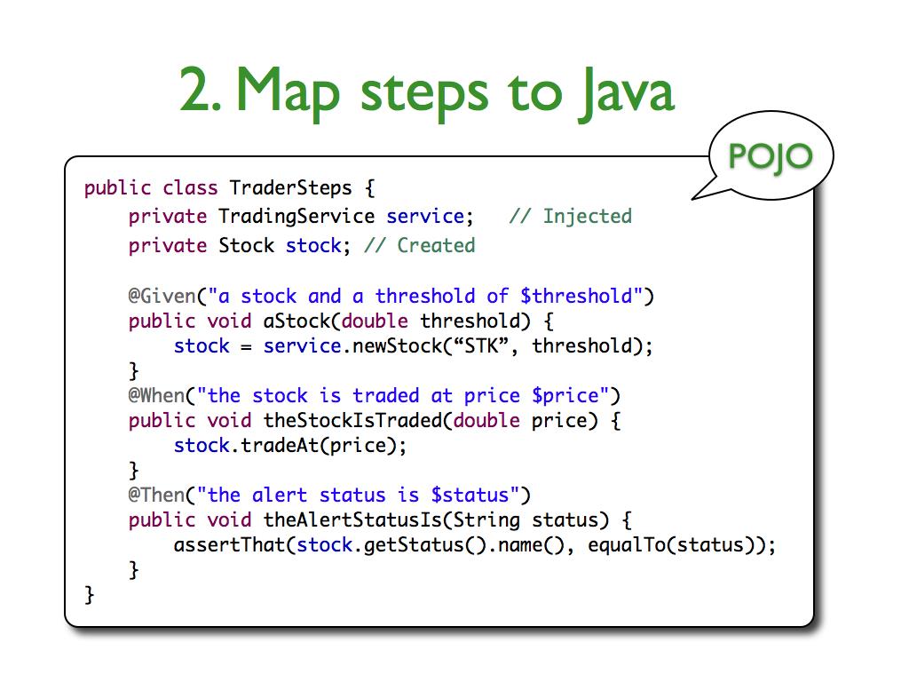 JBehave : code
