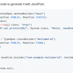 Which framework to generate source code ?
