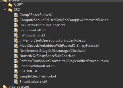 SonarQube Cobol Test folder example