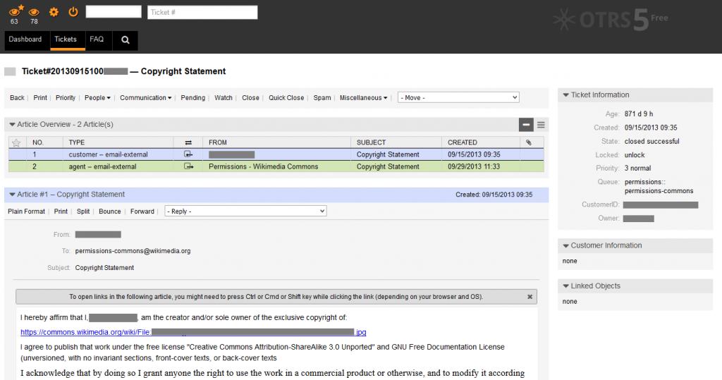 OTRS Screenshot