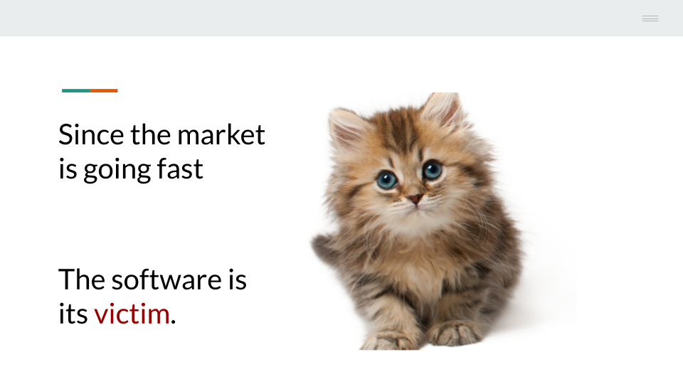 Marketing trends are killing software per dozen