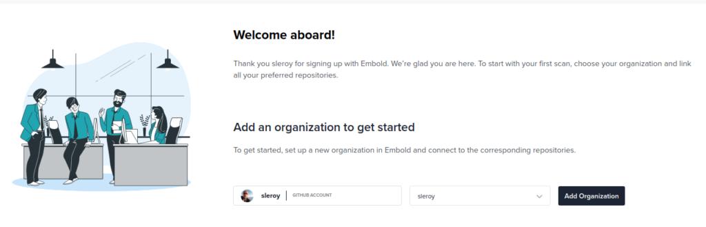 Embold : GITHub Organizations