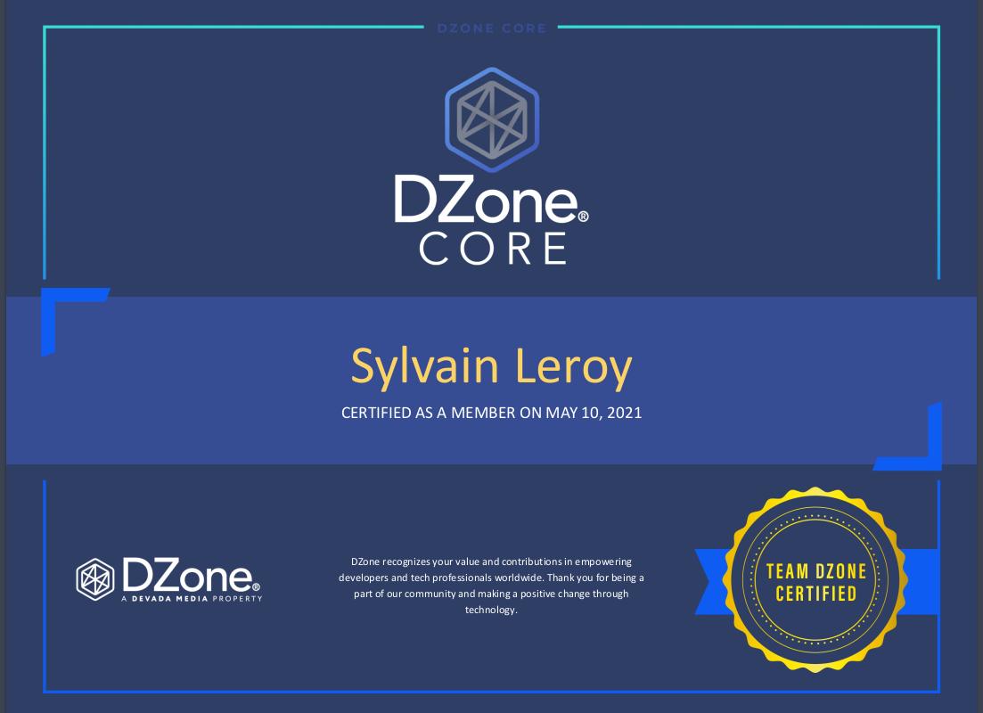 DZone certificate picture