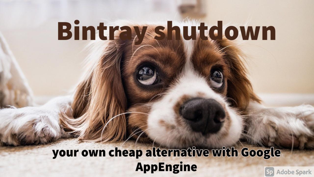 Bintray shutdown : cheap alternative with Google App Engine