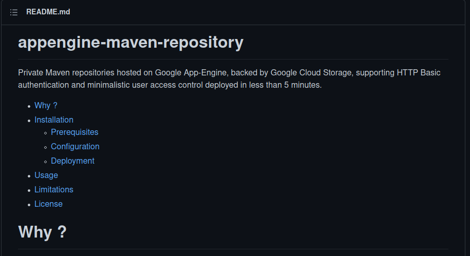 Maven repository with GCP AppEngine