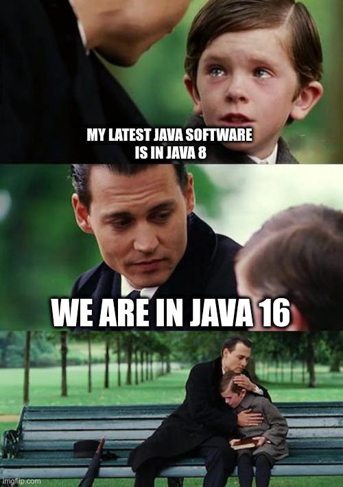 Java 16 meme